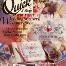 QUICK & EASY CROSS STITCH BACK ISSUE CRAFTS MAGAZINE APRIL MAY 1991 NEAR MINT