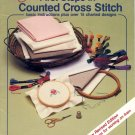 AMERICAN SCHOOL OF NEEDLEWORK BOOKLET FIRST STEPS IN COUNTED CROSS STITCH PATTERNS 1986 MINT