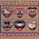 KEEPSAKE CALENDAR 1989 CROSS STITCH COLLECTION NEAR MINT