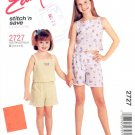 McCALL'S PATTERN #2727 CHILDREN'S AND GIRLS' SHIRT TOPS AND SHORTS SIZE A 2 to 6 NEW UNCUT 2000
