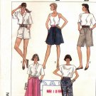 SIMPLICITY PATTERN #8687 MISSES' PULL ON SKIRT SHORTS & PANTS SIZE  PT CUT OOP 1988