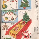 McCALL'S PATTERN #2087: CHRISTMAS TRIMMINGS AND ALPHABET WITH TRANSFER USED 1956