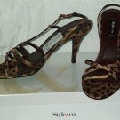 WOMEN'S SHOES STYLE & CO. BROWN LEOPARD PRINT HEELS - SANDALS SIZE 9.5M NEW WITH BOX