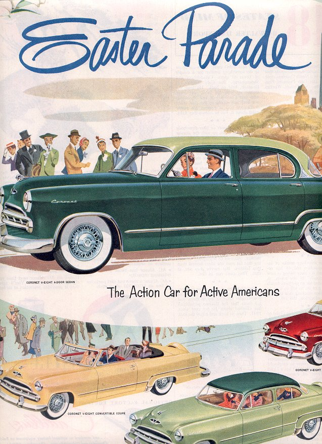 1953  DOUBLE PAGE AD 1953 DODGE MAGAZINE AD  (167)
