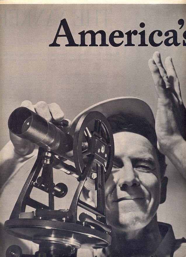 1953  SANTA FE - AMERICA'S NEW RAILROAD DOUBLE PAGE MAGAZINE AD  (171)