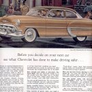1953 NEW 1953 CHEVROLET BEL AIR 2-DOOR SEDAN MAGAZINE AD (172)