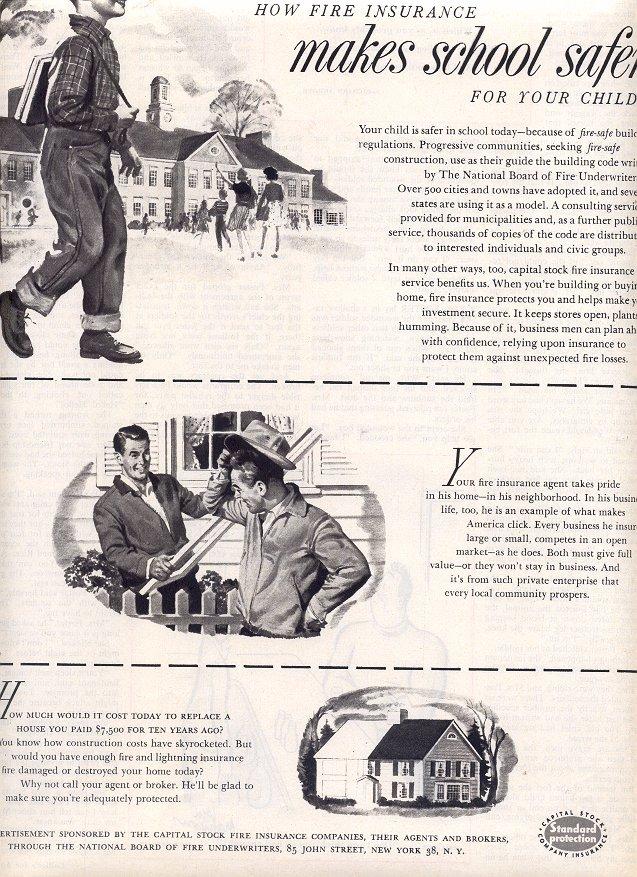 1953 CAPITAL STOCK FIRE INSURANCE COMPANIES MAGAZINE AD  (173)