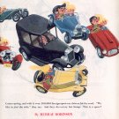 1953 THE (FOREIGN) SPORT CAR SET RIDES AGAIN DOUBLE PAGE MAGAZINE AD (174)