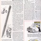 1953 DIXON TICONDEROGA PENCIL MAGAZINE AD  (177)