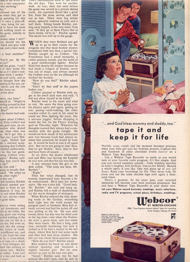 1953 WEBCOR TAPE RECORDER MAGAZINE AD  (178)
