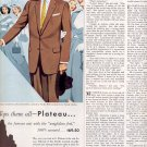 1953 PLATEAU TIMELY CLOTHES BY PACIFIC MILLS CRAFT FABRIC MAGAZINE AD  (181)