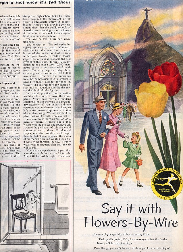 1953 FTD - FLORISTS' TELEGRAPH DELIVERY ASSOCIATION MAGAZINE AD  (182)