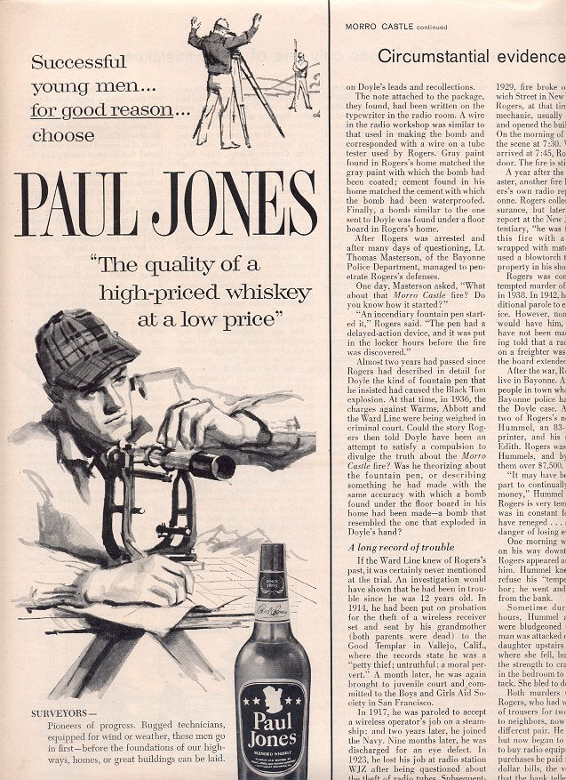1963 PAUL JONES BLENDED WHISKEY MAGAZINE AD  (185)