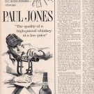 1963 PAUL JONES BLENDED WHISKEY MAGAZINE AD  (185)