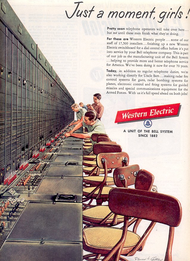 1953 WESTERN ELECTRIC MAGAZINE AD  (189)