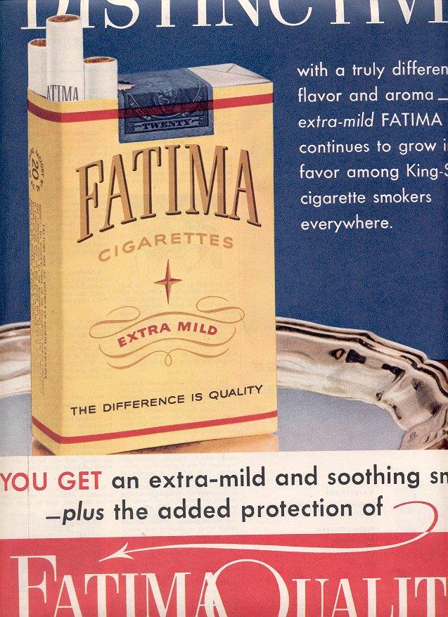 1953 FATIMA CIGARETTES MAGAZINE AD  (190)