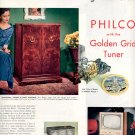 1953  PHILCO TELEVISION WITH THE GOLDEN GRID TUNER AND RADIOS MAGAZINE AD  (193)