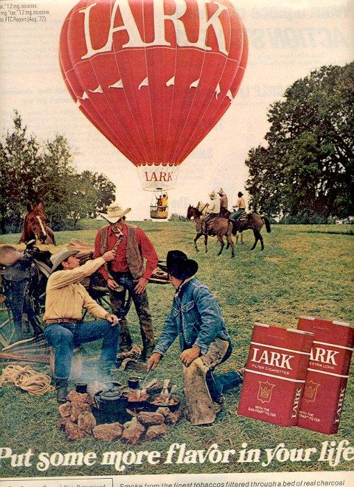 1972 LARK FILTER  CIGARETTES MAGAZINE AD  (26)