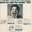 1972 SINGER SEWING MACHINES MAGAZINE AD  (30)