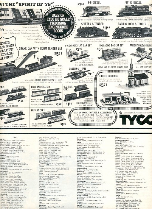 1972 TYCO TRAINS MAGAZINE AD  (61)