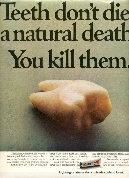 1972 CREST TOOTHPASTE MAGAZINE AD  (83)