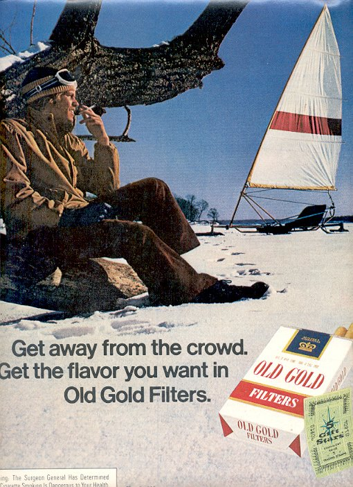 1972 OLD GOLD FILTER CIGARETTES MAGAZINE AD  (93)