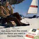 1972 OLD GOLD FILTER CIGARETTES MAGAZINE AD  (93)