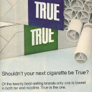 1972 TRUE CIGARETTES MAGAZINE AD  (96)