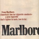 1972 MARLBORO LIGHTS CIGARETTES w/ MARLBORO MAN DOUBLE PAGE MAGAZINE AD  (29)