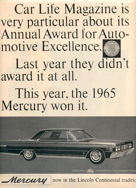 1964 MERCURY LINCOLN CONTINENTAL MAGAZINE AD  (121)