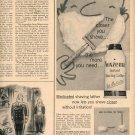 1959 NOXZEMA MEDICATED INSTANT SHAVING LATHER MAGAZINE AD  (160)