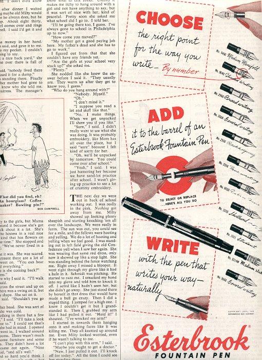 1953 ESTERBROOK FOUNTAIN PEN MAGAZINE AD  (196)