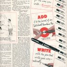 1953 ESTERBROOK FOUNTAIN PEN MAGAZINE AD  (196)