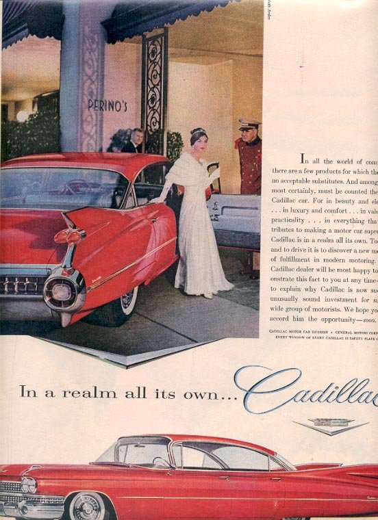 1959 GENERAL MOTORS CADILLAC MAGAZINE AD  (201)