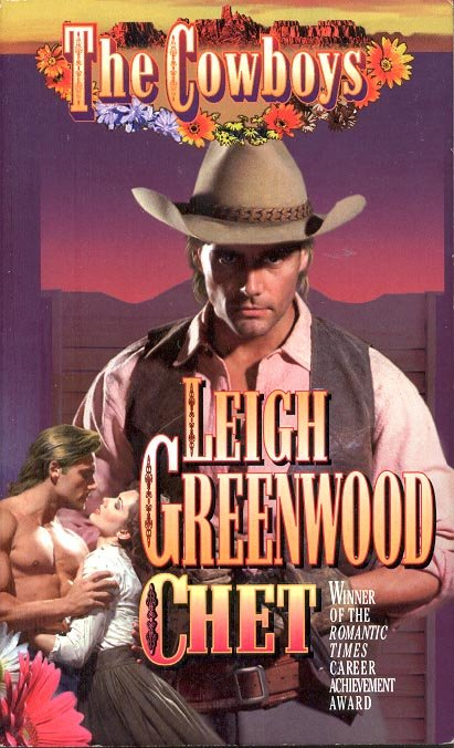 THE COWBOYS - CHET by LEIGH GREENWOOD 1998  PAPERBACK BOOK MINT