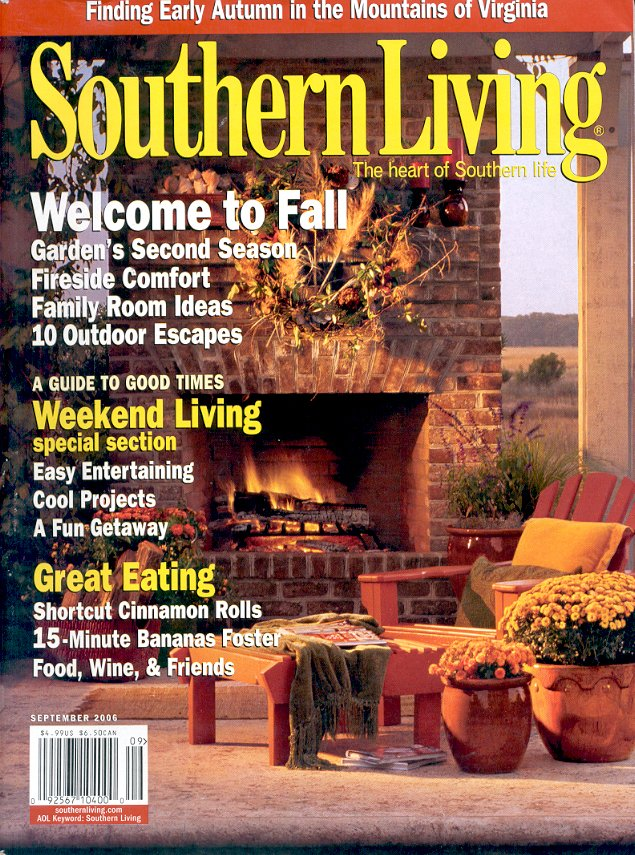 SOUTHERN LIVING MAGAZINE SEPTEMBER 2006 WELCOME TO FALL BACK ISSUE MAGAZINE NEAR MINT