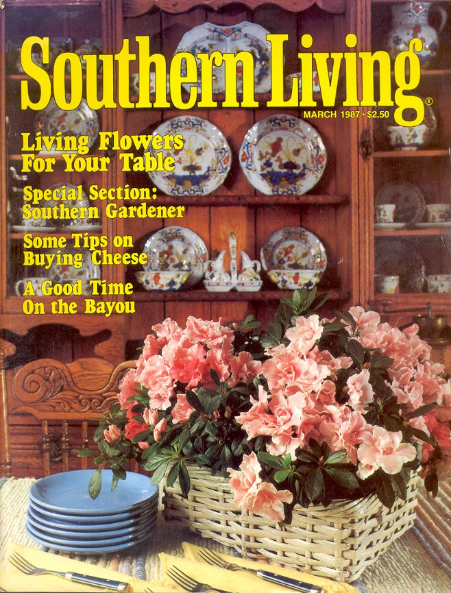 SOUTHERN LIVING MAGAZINE MARCH 1987 SOUTHERN GARDENER BACK ISSUE MAGAZINE NEAR MINT