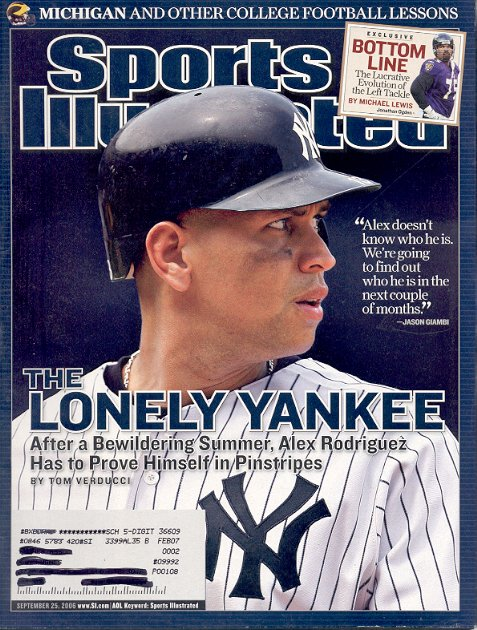 SPORTS ILLUSTRATED MAGAZINE SEPTEMBER 25 2006 ALEX RODRIGUEZ NEW YORK YANKEES BACK ISSUE MINT