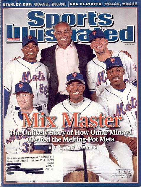 SPORTS ILLUSTRATED MAGAZINE JUNE 18, 2007 MIX MASTER NY METS BACK ISSUE MAGAZINE NEAR MINT