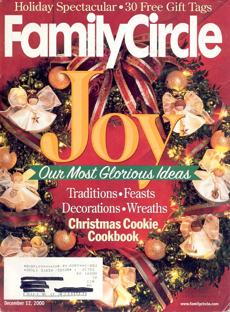FAMILY CIRCLE DECEMBER 12 2000 - CHRISTMAS COOKIES BACK ISSUE MAGAZINE NEAR MINT