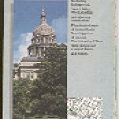 AUSTIN TEXAS CITY MAP BY GOUSHA TRAVEL 1989 NEAR MINT