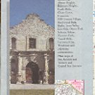 SAN ANTONIO TEXAS CITY MAP BY GOUSHA TRAVEL 1987 NEAR MINT