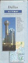 DALLAS TEXAS CITY MAP BY GOUSHA TRAVEL 1991 NEAR MINT