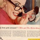 1957 HERTZ RENT A CAR CHEVROLETS MAGAZINE AD  (207)