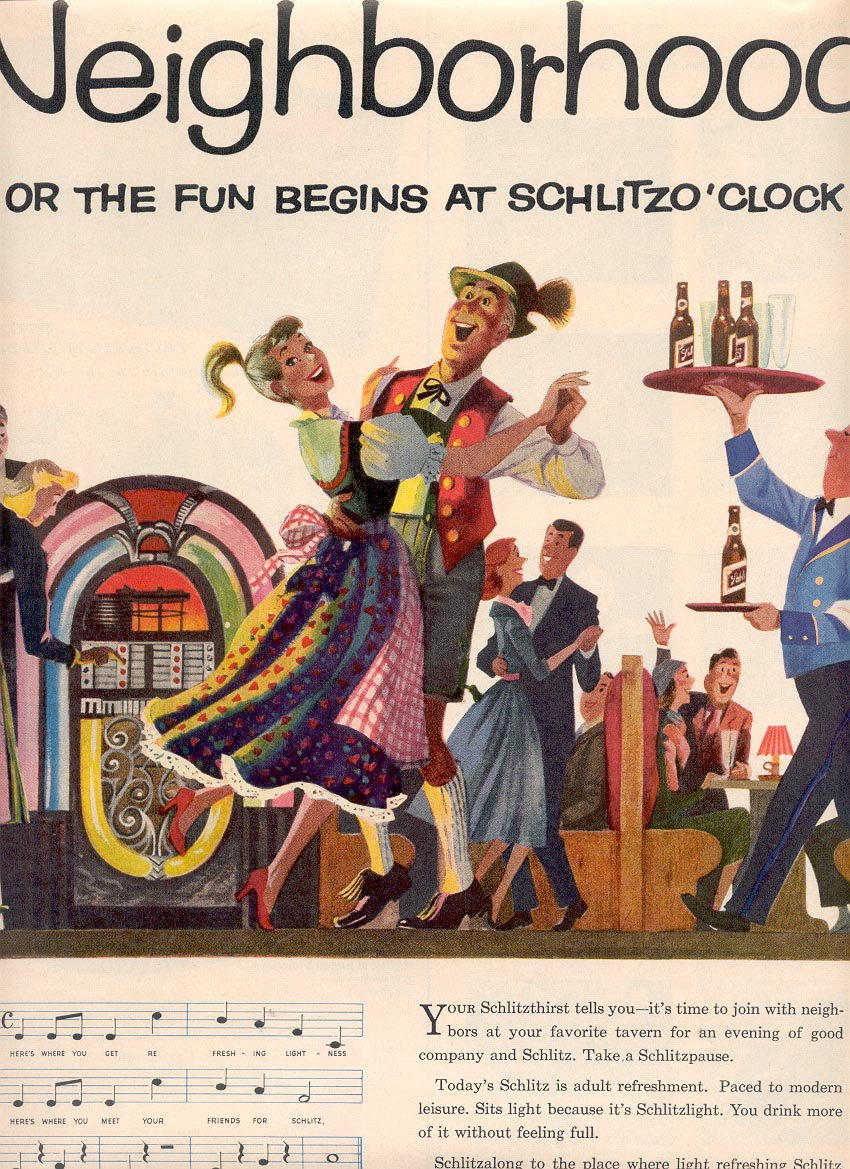 1957 SCHLITZ BEER MAGAZINE AD  (209)