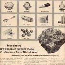 1957 INTERNATIONAL NICKEL INCO MAGAZINE AD  (212)