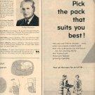 1957  L & M CIGARETTES MAGAZINE DOUBLE PAGE AD (214)