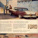 1957  FORD FAIRLANE CLUB VICTORIA MAGAZINE AD (215)