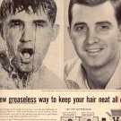 1957  VITALIS HAIR TONIC WITH V-7 MAGAZINE AD (217)
