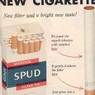 1957 SPUD CIGARETTES MAGAZINE AD (219)